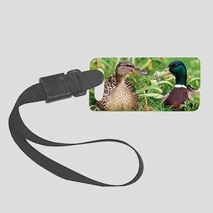 Mallard ducks, composite image Small Luggage Tag