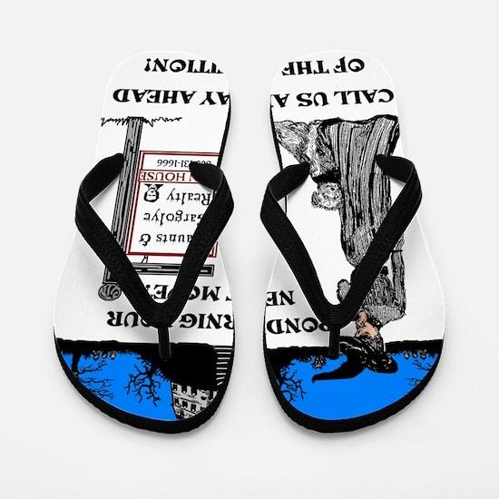 Haunted Mansion for Sale Flip Flops