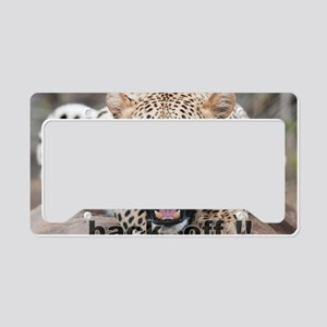 angry cheetah License Plate Holder