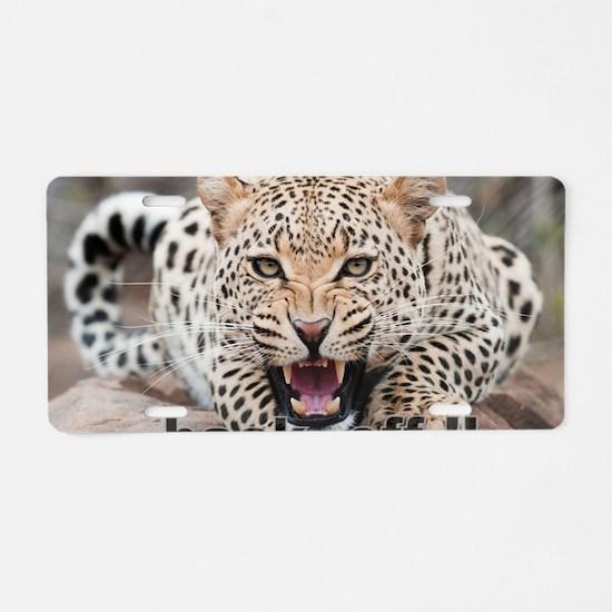 angry cheetah Aluminum License Plate