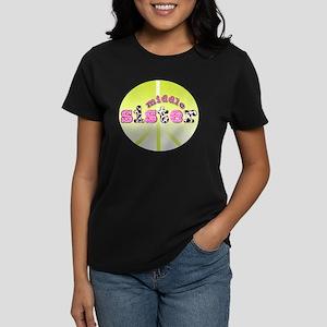 middle sister peace decor Women's Dark T-Shirt
