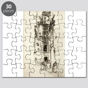 La Mairie, Loches - Whistler - c1880 Puzzle