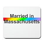 Married in Massachusetts Mousepad
