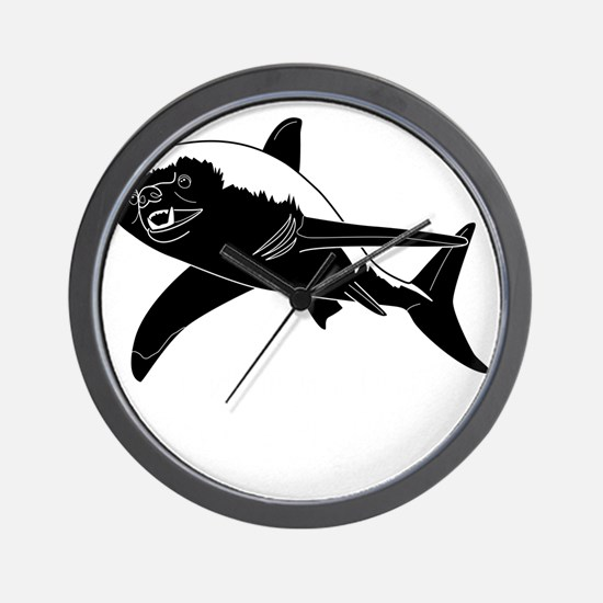 Honey Badger Shark Wall Clock
