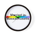 Married in Massachusetts Wall Clock
