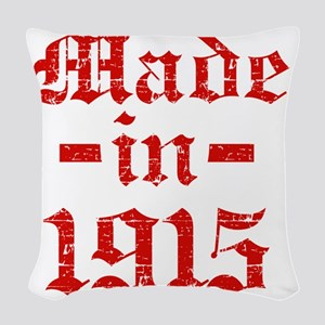 Made In 1915 Woven Throw Pillow