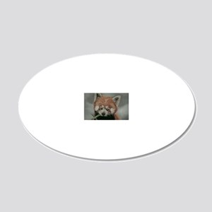 Red Panda - Painting Done in 20x12 Oval Wall Decal