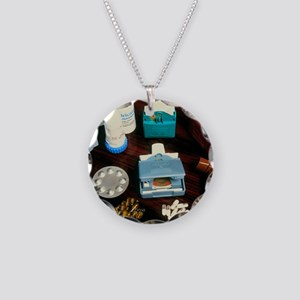 Assorted inhalers and drugs  Necklace Circle Charm