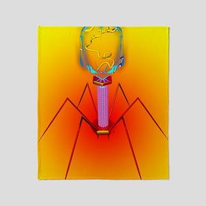 Bacteriophage Throw Blanket