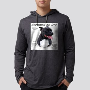 Staffordshire Bull Terrier Mens Hooded Shirt