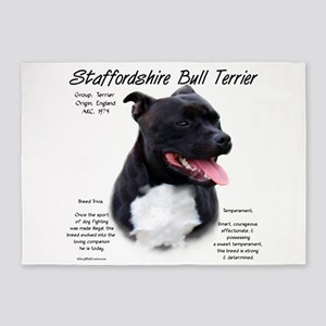 Staffordshire Bull Terrier 5'x7'Area Rug