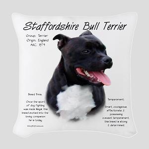 Staffordshire Bull Terrier Woven Throw Pillow