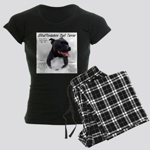 Staffordshire Bull Terrier Women's Dark Pajamas