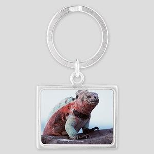 Marine iguana Landscape Keychain