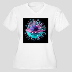Avian flu virus Women's Plus Size V-Neck T-Shirt