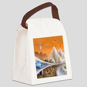 Martian colony art exhibition, ar Canvas Lunch Bag