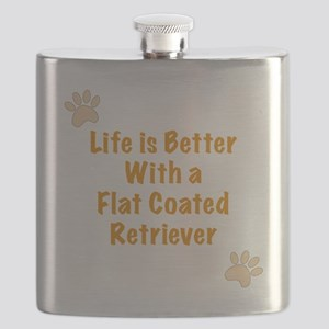 Life is better with a Flat Coated Retriever Flask