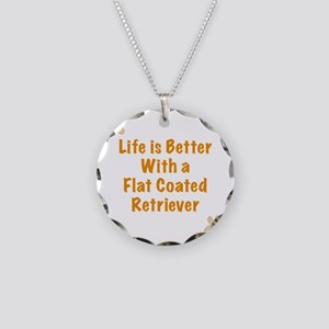 Life is better with a Flat C Necklace Circle Charm