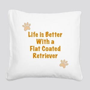 Life is better with a Flat Co Square Canvas Pillow