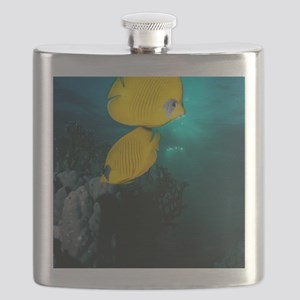 Masked butterfly fish Flask