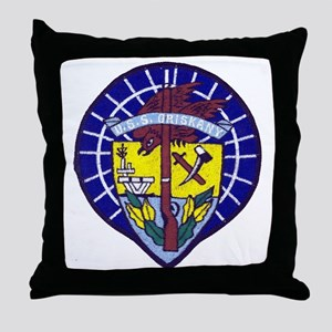 uss oriskany patch transparent Throw Pillow