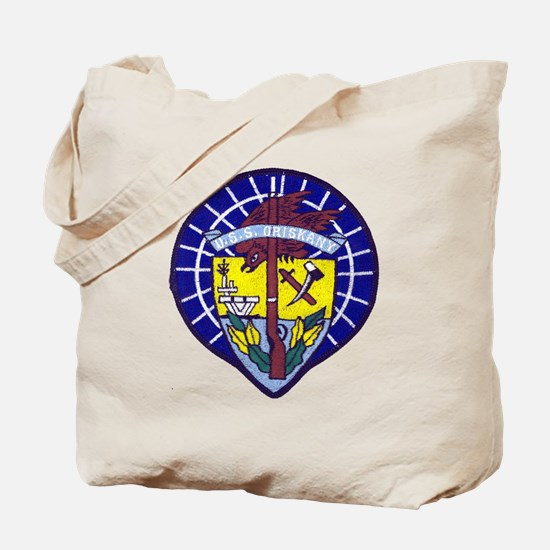 uss oriskany patch transparent Tote Bag