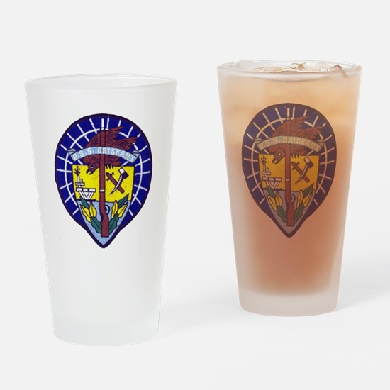 uss oriskany patch transparent Drinking Glass