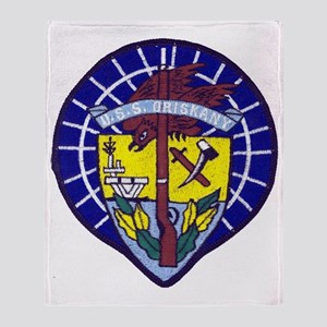 uss oriskany patch transparent Throw Blanket