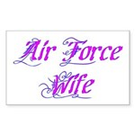 Air Force Wife ver2 Rectangle Sticker