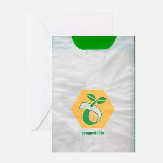 Biodegradable plastic bags Greeting Card