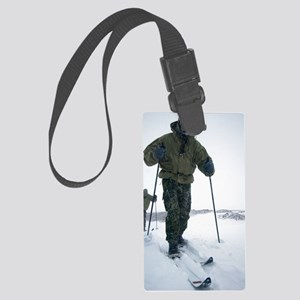 Military arctic survival trainin Large Luggage Tag