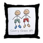 Gay Cherry Grove Throw Pillow