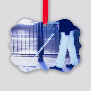 Blind man walking Picture Ornament