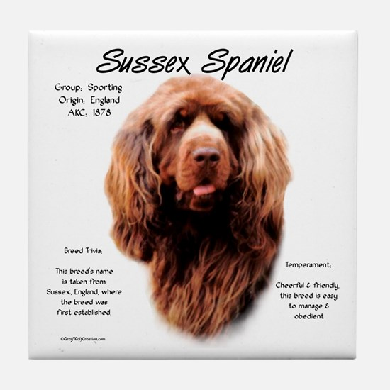Sussex Spaniel Tile Coaster