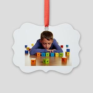Autistic boy Picture Ornament