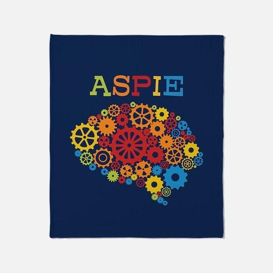 Aspie Brain Autism Throw Blanket