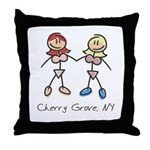 Gay Cherry Grove Throw Pillow
