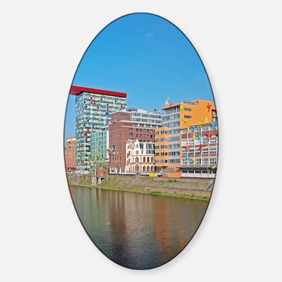 Media Harbour, Dusseldorf, Germany Sticker (Oval)