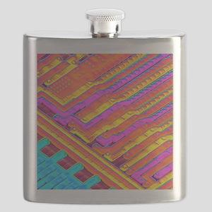 Microchip surface, SEM Flask