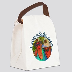 Laura-n-Sasha Logo Canvas Lunch Bag