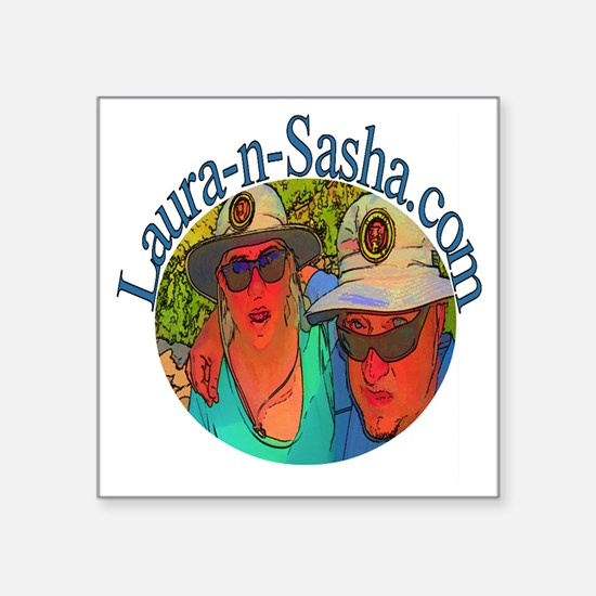 "Laura-n-Sasha Logo Square Sticker 3"" x 3"""