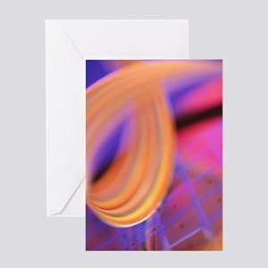 Microchip wafer Greeting Card