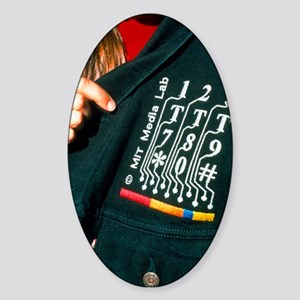 Mobile phone jacket Sticker (Oval)