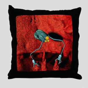 Medical nanorobot Throw Pillow