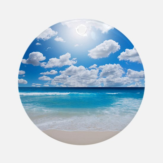Sunny Beach Round Ornament