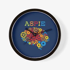 Aspie Brain Autism Wall Clock