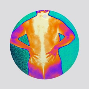 Back pain, thermogram Round Ornament