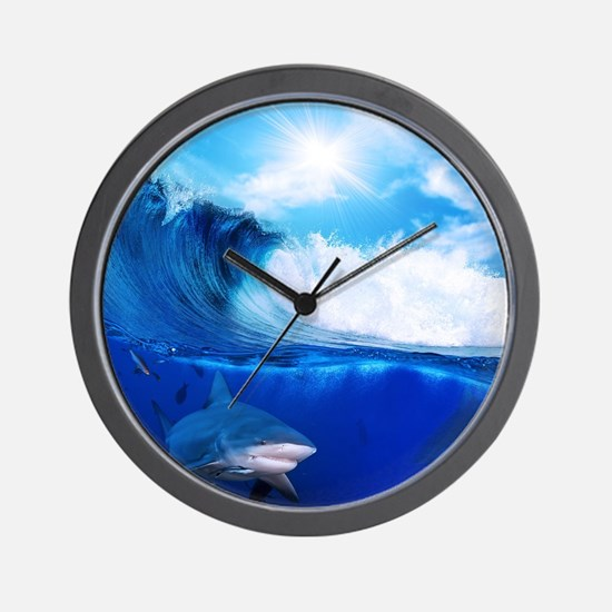 Shark Wave Wall Clock