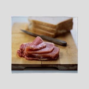 Bacon sandwich preparation Throw Blanket
