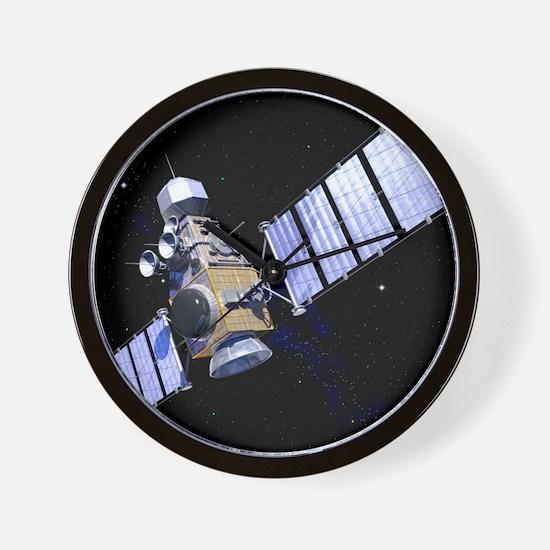 Military satellite Wall Clock